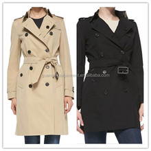 2014 American wind coat women Knee-Length Double-Breasted Trench Coat