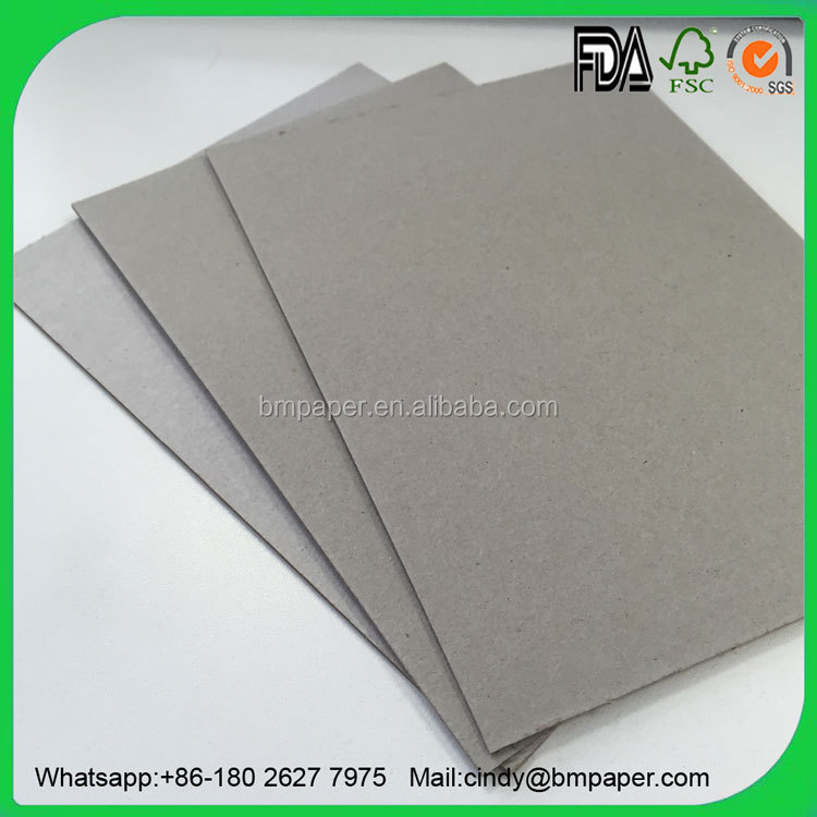 2016 Hot Selling Laminated book binding offset printing grey cardboard