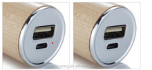 Wooden Portable Power Bank 1800mAh mobile phone charger
