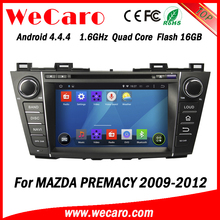 Wecaro WC-MZ8005 android 4.4.4 car dvd player for mazda premacy car audio 2009 2010 2011 2012 car radio 3G wifi playstore