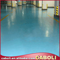 Caboli floor coating in color sand epoxy with scratch resistant floor coating