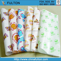 Customized food paper wrapping butter paper burger packaging paper