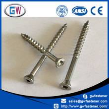 316 304 flat counter sunk stainless screws