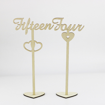High Quality wooden wedding table numbers