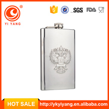 Yi Yang Brand 5oz long shapebest hip flask with embossed logo