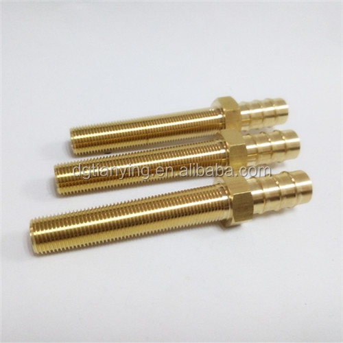 Male thread hose extension nipple brass