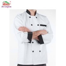 TC Twill Fabric Oil Resistant Modern Hotel Uniform with Pockets