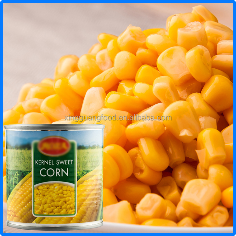 chinese canned sweet corn kernel with balanced nutrition