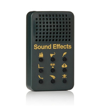 Hand-held sound effects device with 16 high-fidelity sound bites/sound machine