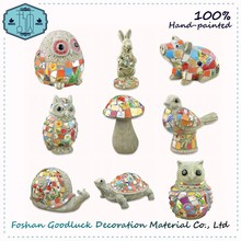 Hand Painted All Kind Of Outdoor Resin Ceramic Animals Garden Decoration