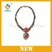 Free shipping beaded statement necklace,silver jewelry bangkok,imitation gold necklace