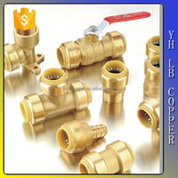 Lead free brass inch SGP W degree el ow fittings push fit fitting