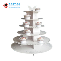 Hot selling white lace retail stand cardboard cake display