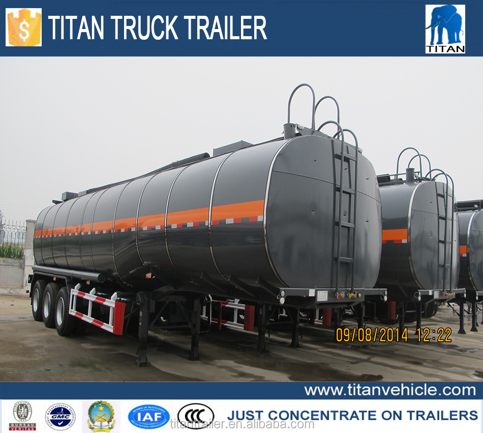 TITAN 3 axles Insulated Heated asphalt bitumen transportation tank semi trailer for sale