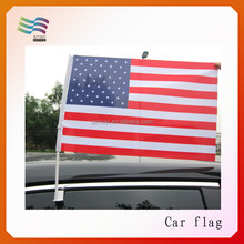 Manufacturer college sport team wholesale custom car flags for football team