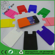 3m sticker silicone card holder smart wallet waterproof silicone cellphone pouches