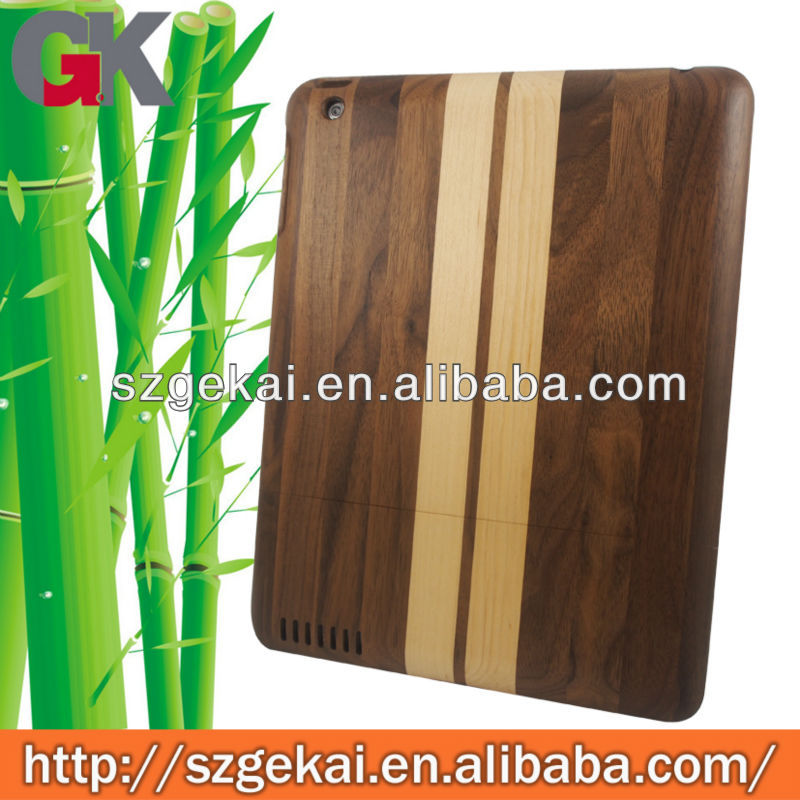 100% Real Natural Handmad Bamboo Wood Wooden Skin Case Cover hybrid for Ipad 2 3 4