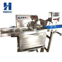 Mini chocolate coating machine/chocolate enrobed candy bar production line/chocolate caramel enrober