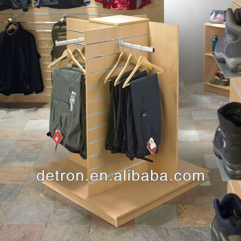 Shirt store selling 4 side hanging display stand shirt