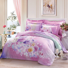 Cheap polyester microfiber pigment or disperse printed/dyed/PD/solid colour bed sheet/mattress/quilt/bedding fabric from China