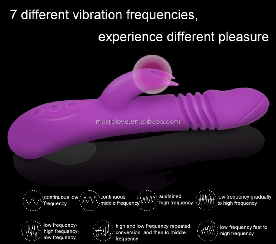 Best Selling Rabbit Vibrator Massage Rod 7 Frequency Vibration 3 Telescopic Swing Rotation with Heating for Women Sex Toys