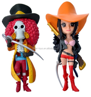 make custom 3d hot sales plastic cartoon toy one piece Luffy Japanese PVC anime Action figure