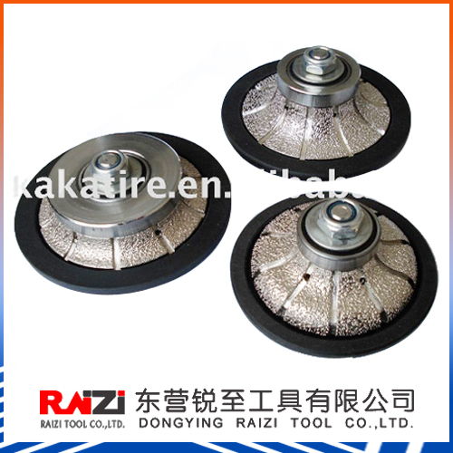 Vacuum Brazed Diamond Tool/Hand Profiling Wheel/Router Bit Sintered Diamond Router Bit/machine tool router bit/diamond stone too