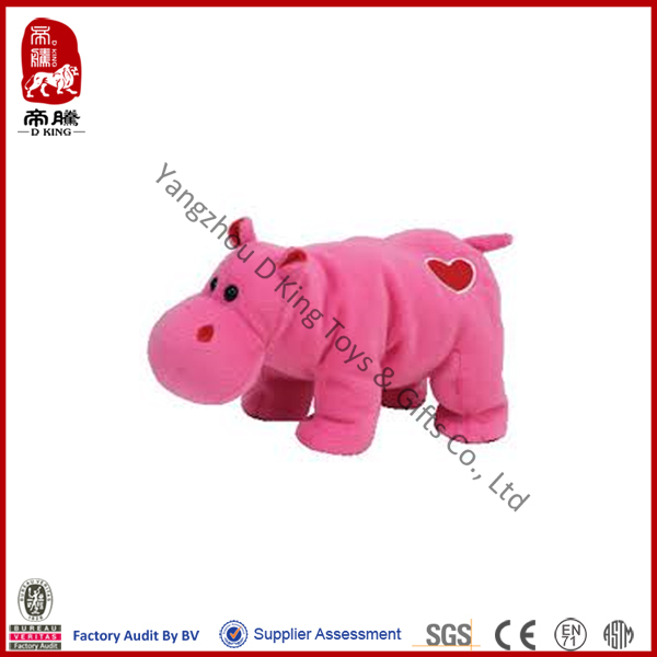 2014 best product for import stuffed pink hippo plush toy with heart cheap hippo soft animals