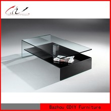 bent glass center coffee table