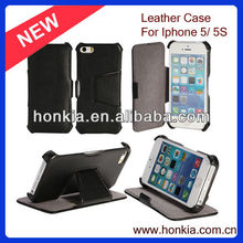 Factory High Quality Hot Selling Wallet Leather Case for iphone 5 Wallet Case