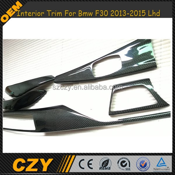 New 7 Pieces Carbon Fiber Interior Trim For Bmw F30 2013-2015 Lhd