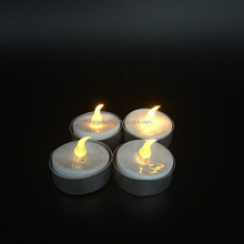 Realistic and Bright Flickering Bulb Battery Operated Flameless LED Tea Light for Seasonal & Festival Celebration