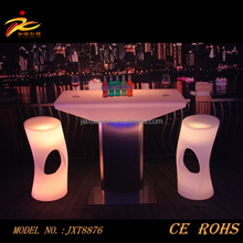 wireless control highboy led illuminated cocktail table,wholesale bar furniture