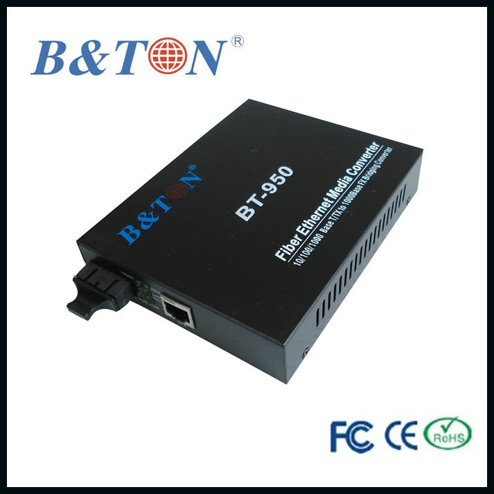 Fast Fiber Optic Media Converter Rj45 Sc Connector