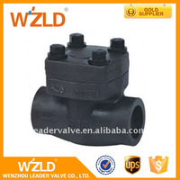 WZLD Hand Wheel Operated API598 Cast Iron And Stainless Steel Forged Welded Check Valve