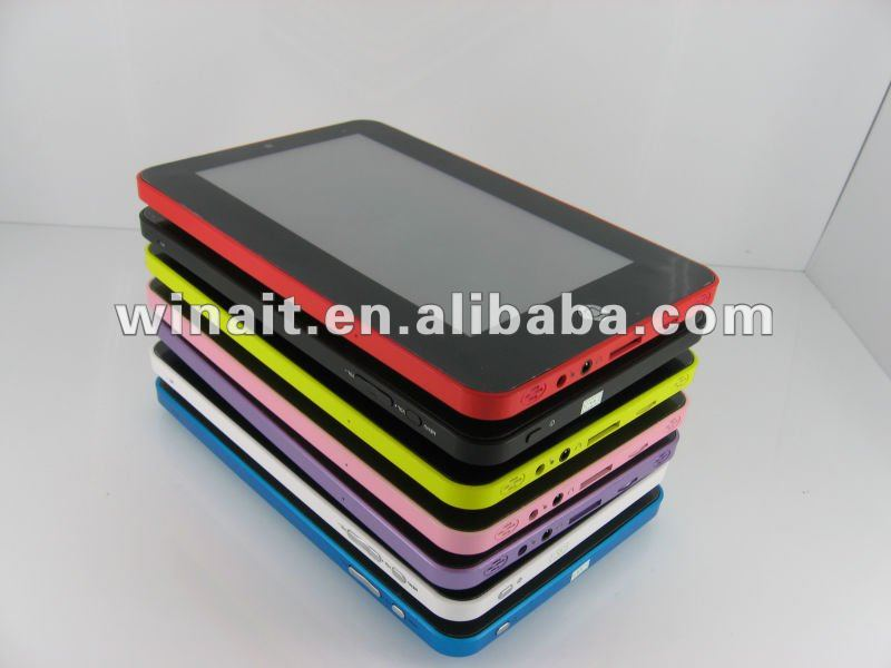 "New 7"" tablet pc support flash 10 VIA8650 Android 2.2 Tablet PC(two point touch)"
