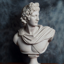 Hand Carved apollo belvedere bust for home decoration