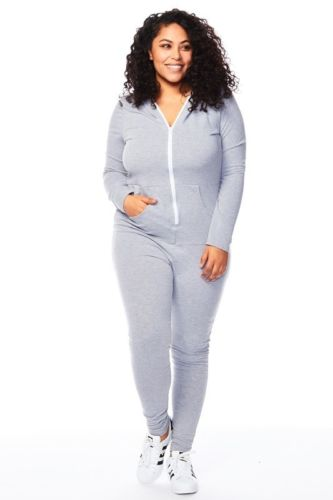 plus size zipper hoodies jumpsuits one piece bulk wholesale clothing