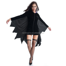2017 Higt Quality anime Halloween Vampire Costume cosplay Bat Costume for in stock