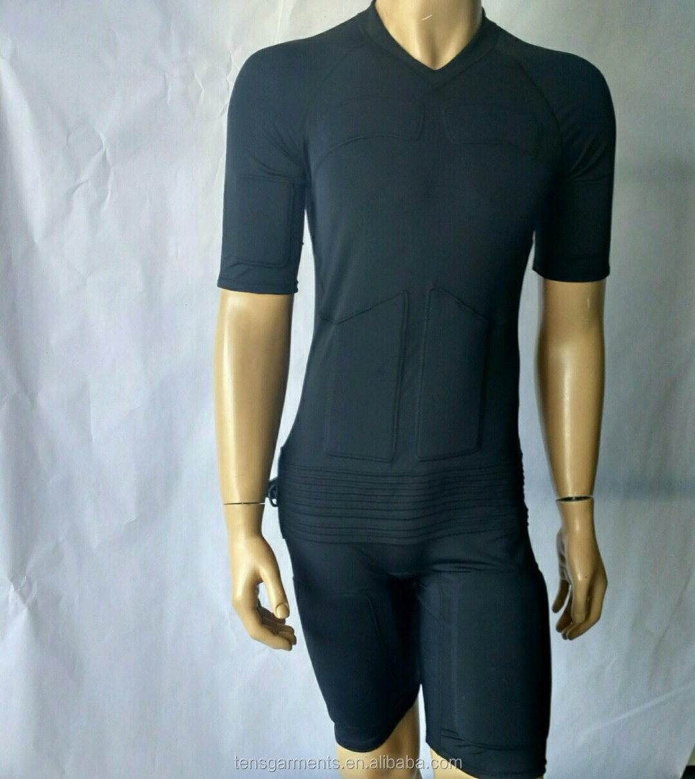 Gym studio vision body ems machine suit, ems slimming body suit connect ems device