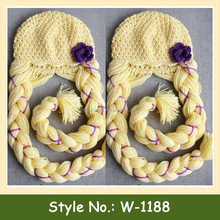 W-1188 wholesale knit pattern frozen girl catoon hat princess crochet inspired beanie