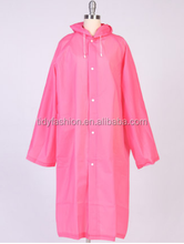 Top Quality Women Plastic Pink Raincoat