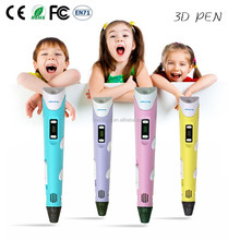 3d printer pen 2016 new toy gift promotional pen 3d with free ABS filament