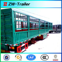 3 axles used and new high quality stake / livestock / agriculture semi trailer truck
