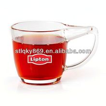 New Design Lipton Glass Mug With Printing Logo