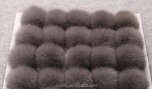 Shijiazhuang furs professional factory quality rabbit fur balls cheap prices 5cm to 10cm customized colors