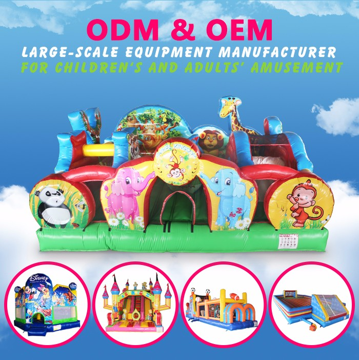 children obstacle games inflatable obstacle maze