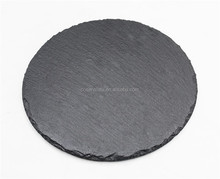 Natural black promotion round slate cheese board