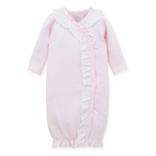 Baby Girl Clothes Winter 100% Soft Cotton Light Pink Long Sleeve Baby Rompers For Newborn Baby Sleeping