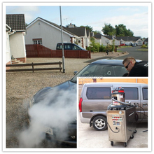 CE no boiler 30 bar 2 guns diesel vapor steam car washer/mobile vapor commercial carpet steam cleaning machine